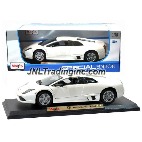 NEW Maisto Special Edition Die Cast Car White Sport LAMBORGHINI MURCIELAGO LP640