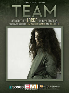 Team Song by Lorde for Piano Vocal Sheet Music Guitar ...