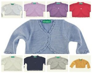Girls-Baby-Bolero-Shrug-Cardigan-Dress-Top-New-Colours-Added