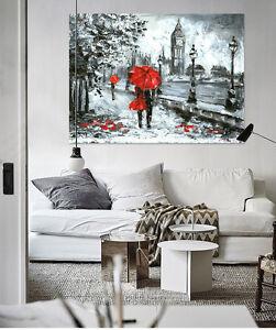 3D-Big-Ben-Roter-Regenschirm-85-Fototapeten-Wandbild-BildTapete-AJSTORE-DE-Lemon