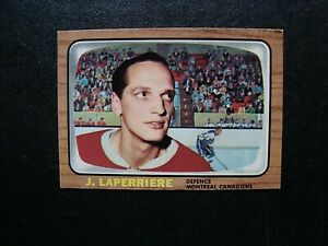 1966-67-Topps-87-Jacques-Laperriere-Montreal-Canadiens-Exmnt