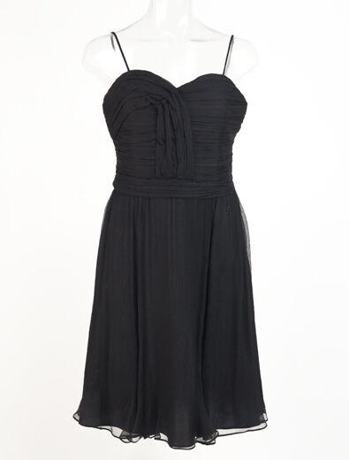 Neu John Galliano Schwarzes Kleid Größe 42