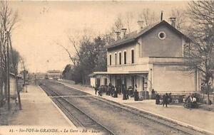 CPA-33-SAINTE-FOY-LA-GRANDE-LA-GARE