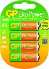 4 X GP EkoPower Prechagred Rechargeable AA Batteries 1300mah Mignon Lr06