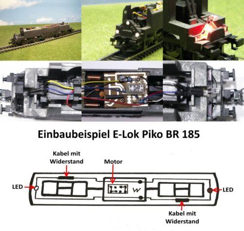 LED Umbauset für H0 Loks Lichtwechsel rot//weiß rot//warmweiß Wendezug Triebwagen