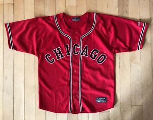 93b495a81 ... netherlands image is loading vintage chicago bulls button front  baseball style jersey c29db 490e2