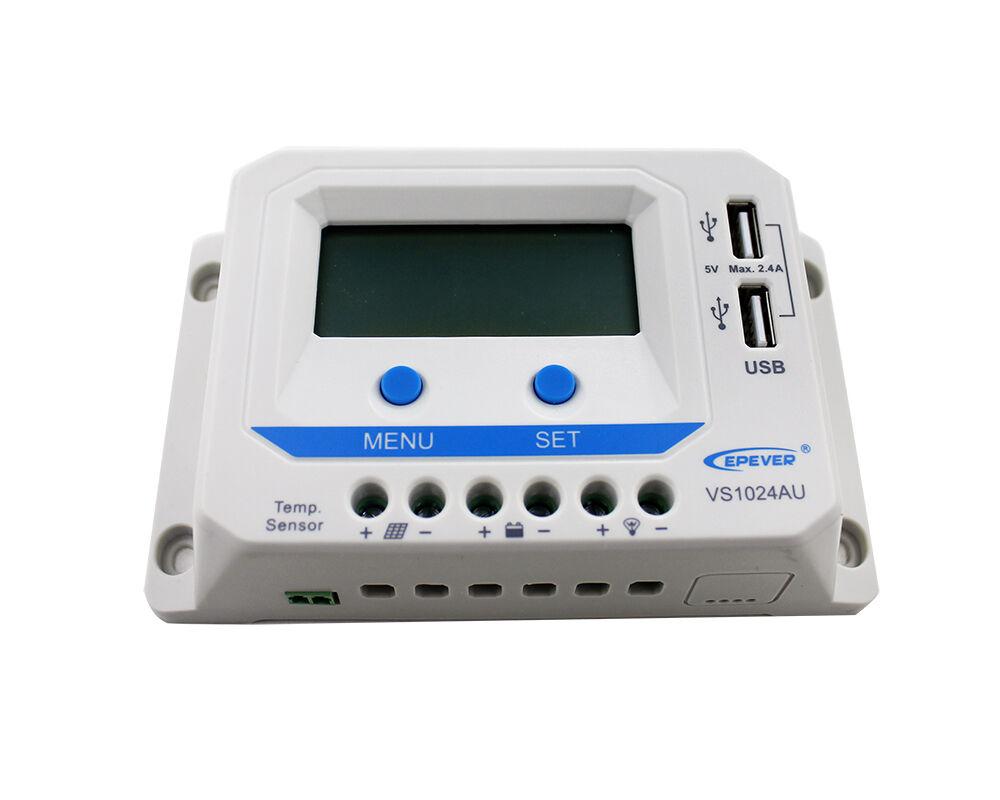 PWM Laderegler EPEVER® VSxxAU 10A, 20A, 30A, 45A, 60A automat. Erkennung 12V/24V