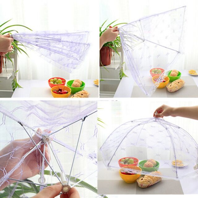 Collapsible Food Cover Protector Pop Up Mesh Fly Wasp Net Party BBQ Kitchen VJ