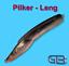 Dorsch-Blinker-Pilker-Leng-265g-mit-Edelstahl-Ose-Schwarz-Grau-Rot Indexbild 1