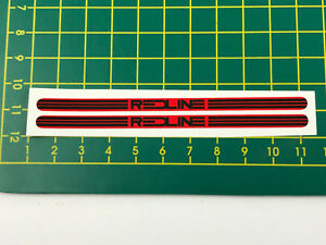 BMX Bike Redline Flight Crank Stickers Decal Red on Black