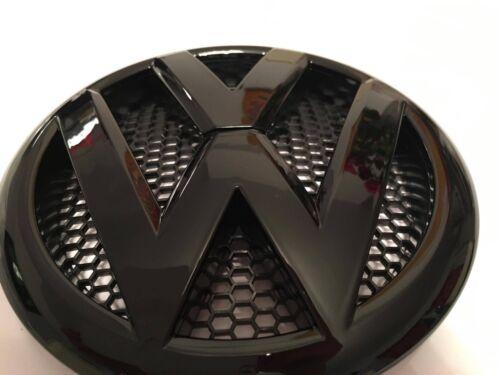 Paire Avant Et Arrière Badge Set pour VW Transporter T5.1 Post 2010 flift noir brillant
