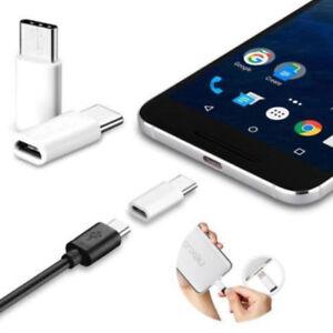 10x-USB-3-1-Type-C-Male-Vers-Micro-USB-Femelle-Adaptateur-Convertisseur-Connecteur-AVK