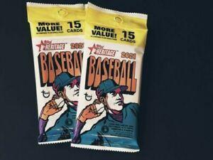 2 PACKS OF 2021 Topps Heritage Baseball HUGE Factory Sealed JUMBO FAT Packs