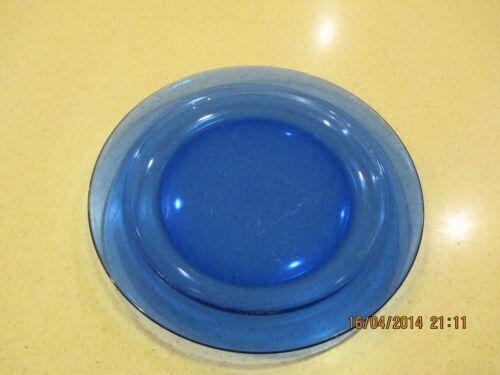 "Vintage Arcoroc France cobalt blue glass 9 1//2/"" dinner plate Luminarc rare"
