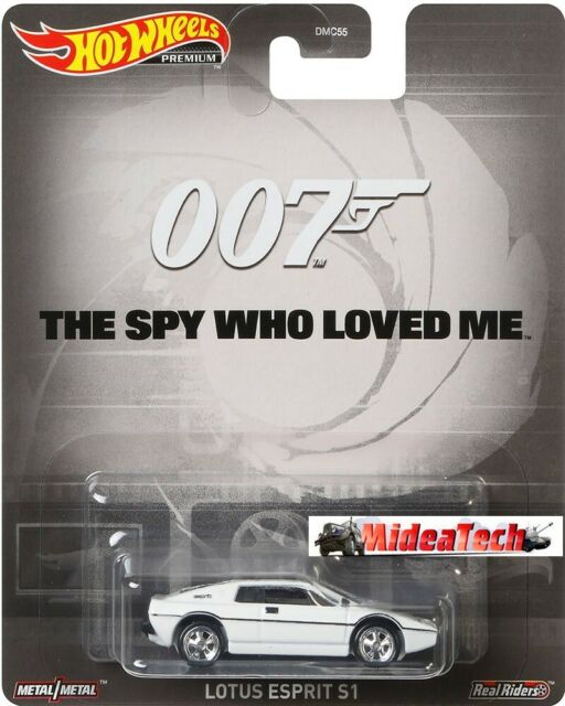 "Lotus Esprit S1 007 /""The Spy Who Loved Me/"" James Bond 1:64 Model HOT WHEELS"