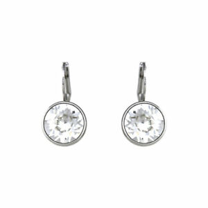 Image Is Loading Baby Mini Bella Clear Crystal Earrings Made With