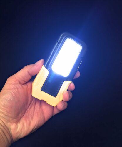 LED Emergency Magnetic Hook Hanging Flashlight Utility Work Light Lamp