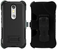 Black Tri-shield Rugged Case Belt Clip Holster Stand For Motorola Droid Turbo 2 on sale
