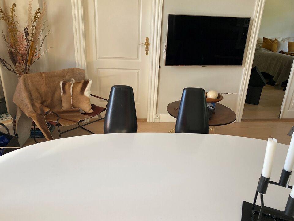 Spisebordsstol, Lædermat chrom, – dba.dk – Køb og Salg af