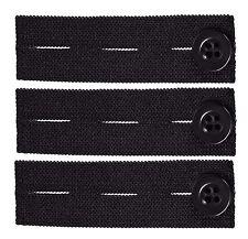 Elastic Pants Waist Extender 3-Pack - Strong Adjustable Pant Button Extenders