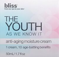 Bliss The Youth As We Know It Anti-aging Moisture Cream - 1.7 Oz - In Box
