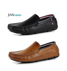 Mens-Casual-Slip-On-Shoes-Comfort-Loafers-Smart-Walking-Driving-Moccasin-UK-Size