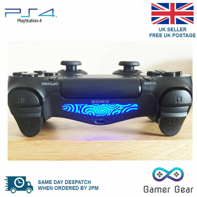 PS4 Controller Light Bar LightBar Decal Sticker - Swirls