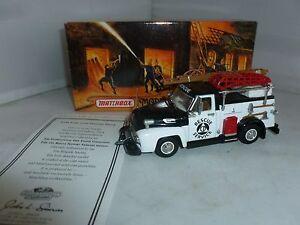 Véhicule de pompier Matchbox Diecast Yym35187 1954 Ford Civil Defence Truck