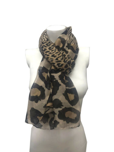 Ladies Womens Leopard Zebra Print Scarf Soft Feel Fashion Party Scarves Wrap
