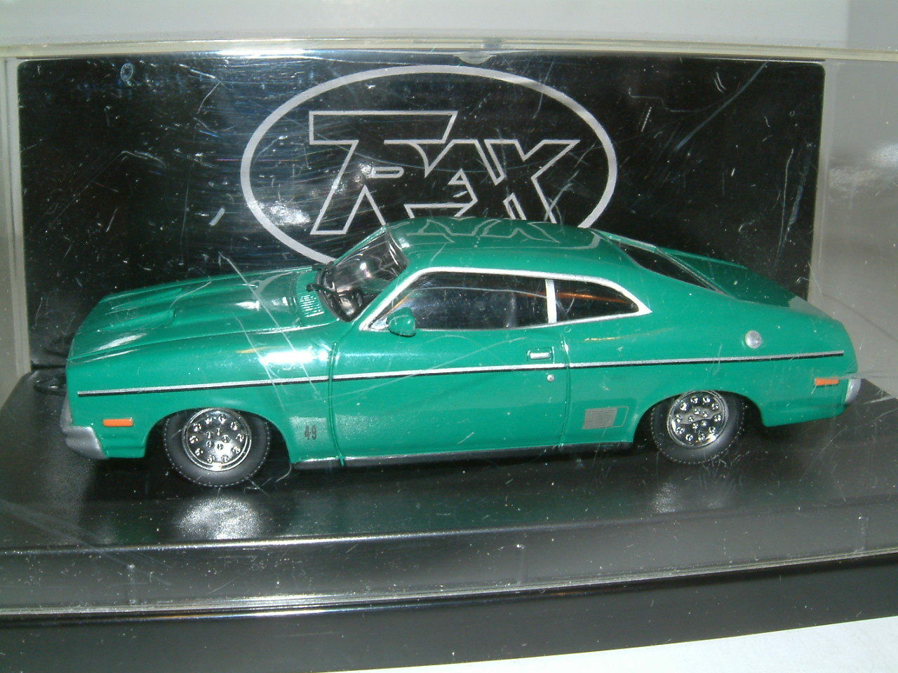 1 43 TRAX TRAX TRAX 1976 FORD XC FALCON GS HARDTOP IN GREEN . AUSTRALIA TG 566082