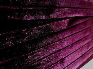 VINTAGE-5-8-034-VELVET-ribbon-SWISS-3-yds-BURGUNDY-WINE