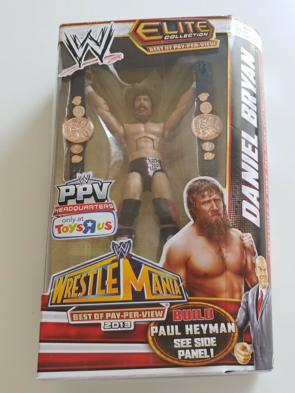 Daniel Bryan WWE Mattel BOPPV Build A Paul Heyman Elite Figure Tag Belts Rare