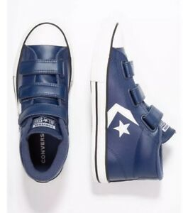 Details about Kids Converse Star Player 3V Mid NavyMason BlueVintage White Size UK 3.5