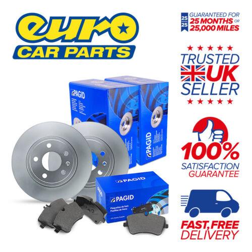 2x Disc 1x Pad Set Pagid Rear Brake Kit AUDI S3 2.0 Petrol 12.08