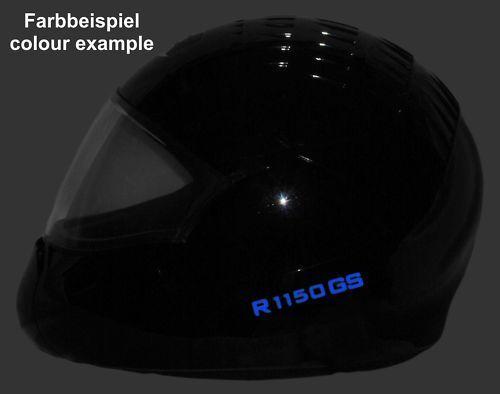 Für BMW R1150GS Helmaufkleber reflektierend Wunschfarbe T2