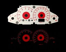 00-04 Ford Focus Carbon Red Indigo Glow White Gauges (FU2000)