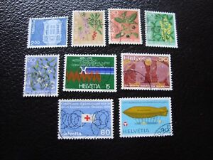 Switzerland-Stamp-Yvert-and-Tellier-N-971-A-979-Obl-A2-Stamp-Switzerland-E