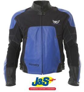Berik-LJ3204-Leather-Textile-Motorcycle-Jacket-Blue-Was-300-SAVE-150-J-amp-S-SALE