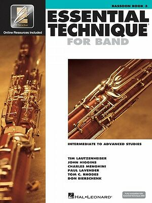 Wind & Woodwinds Independent Essential Technique For Band Intermediate To Advanced Studies Bassoon 000862619 Instruction Books, Cds & Video