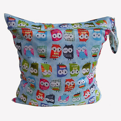 Baby Nappy Waterproof Reusable Washable Wet Dry Cloth Zip Diaper Swimmer Bag