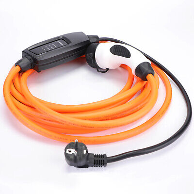 BMW i8 EV Charging Cable Fast 32amp 5m orange Type 2 to Type 2 with case