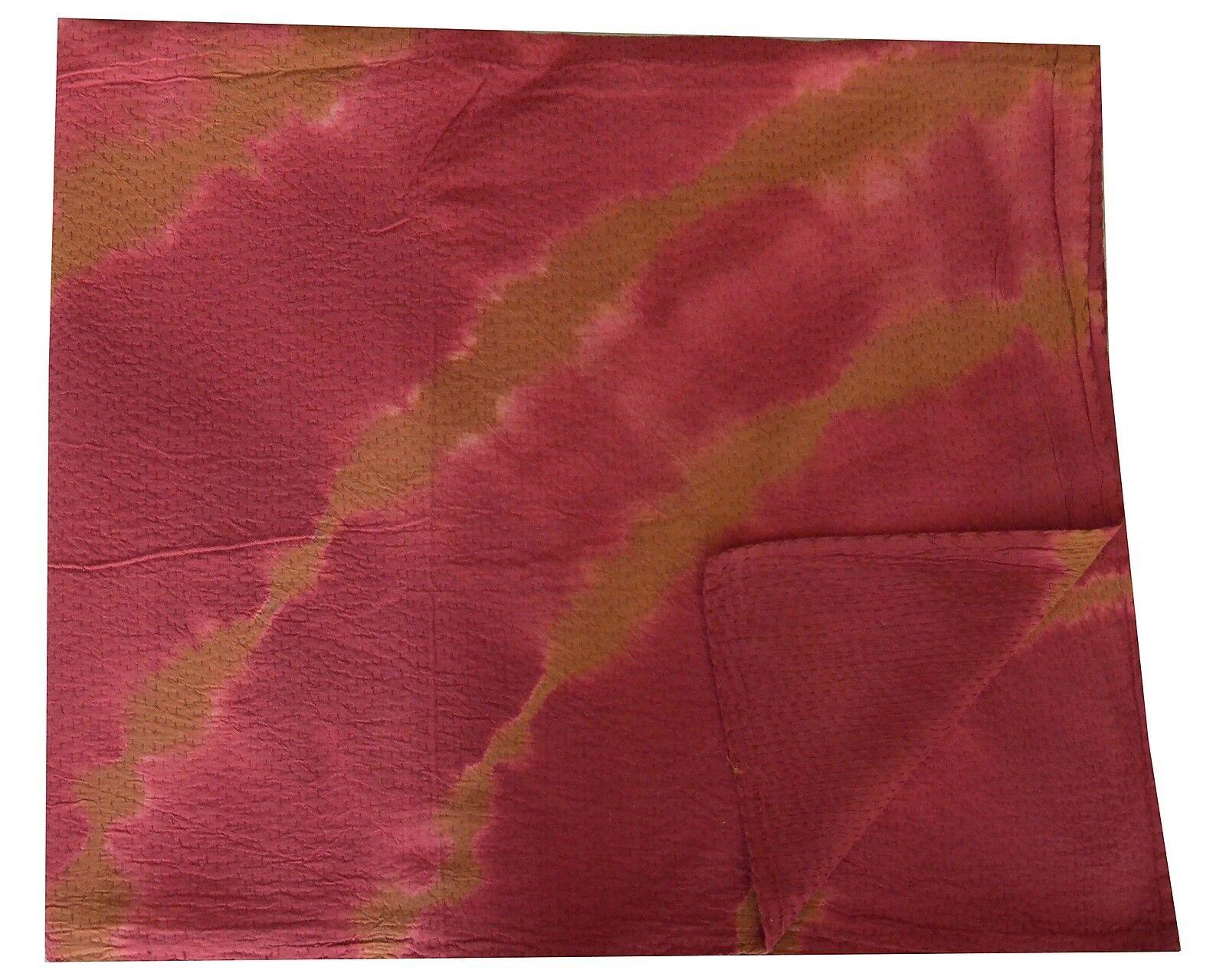 Tie & Dye Queen Kantha Quilt Bedspread Tapestry Gudari Throw Decorative 90 x108