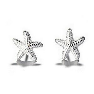 SALE-Silber-Seestern-Starfish-Ohrstick-Ohrstecker-aus-echtem-925-Sterlingsilber