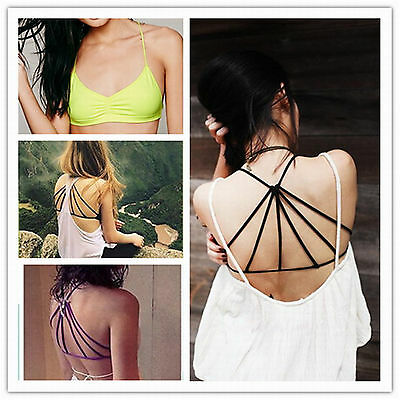 Women Sexy Top Bralet Bustier Eyelash Vest Strappy Crop Top Bra Bandeau Weste