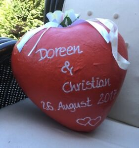 Pinata-Herz-Geburtstag-Pullpinata-Herz-Heiratsantrag-Hochzeit-Geldgeschenk-Rot