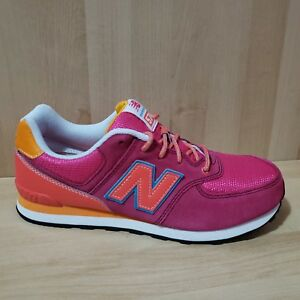 sports shoes 0991a deb76 Details about NEW BALANCE 574 KL574C4G classic Athletic Shoes size Youth  6.5 Pink Sneakers