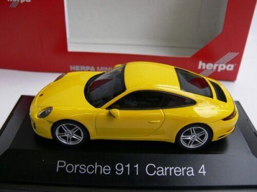 1//43 Herpa Porsche 911 Carrera 4 gelb
