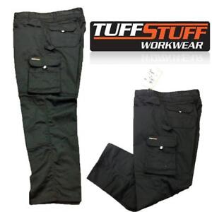 CARGO COMBAT TUFF STUFF WORK TROUSER TOUGH KNEE PAD TROUSERS HEAVY DUTY ALL SIZE