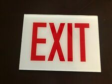 Cooper Lighting Exit Sign Glass