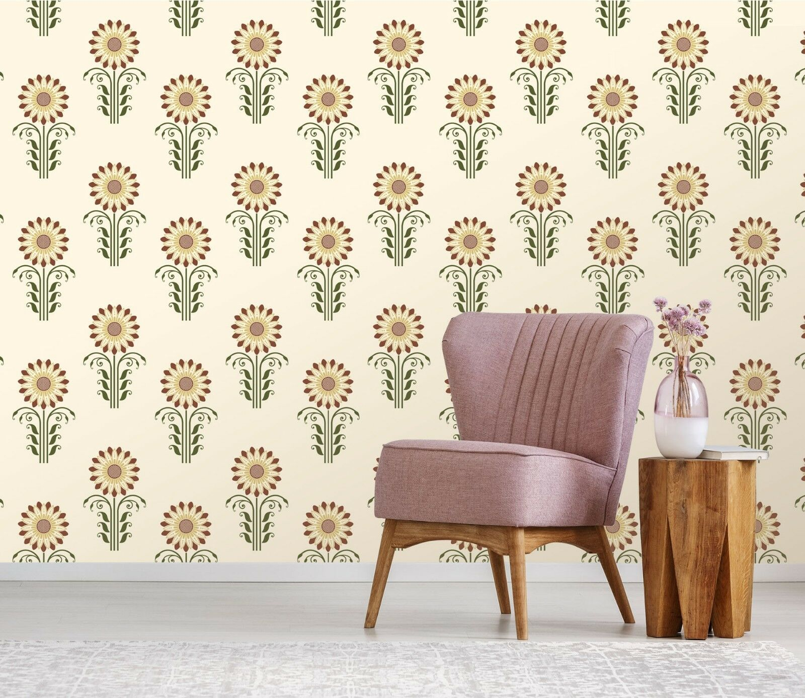 3D Sunflower 21 Wallpaper Mural Print Wall Indoor Wallpaper Murals UK Lemon